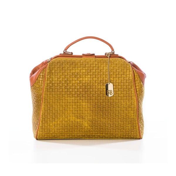 Kožená kabelka Braid Yellow