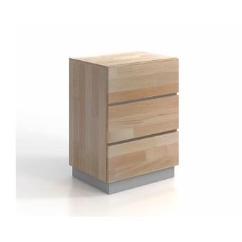 Comodă din lemn masiv de pin și fag SKANDICA Finn 3S