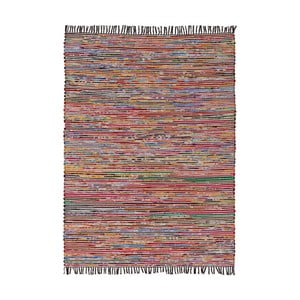 Covor din bumbac Ixia Fringes, 240 x 170 cm, multicolor
