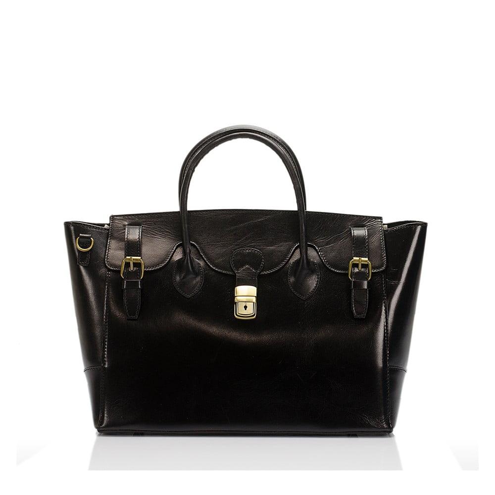 Černá kožená kabelka Lisa Minardi Pomona