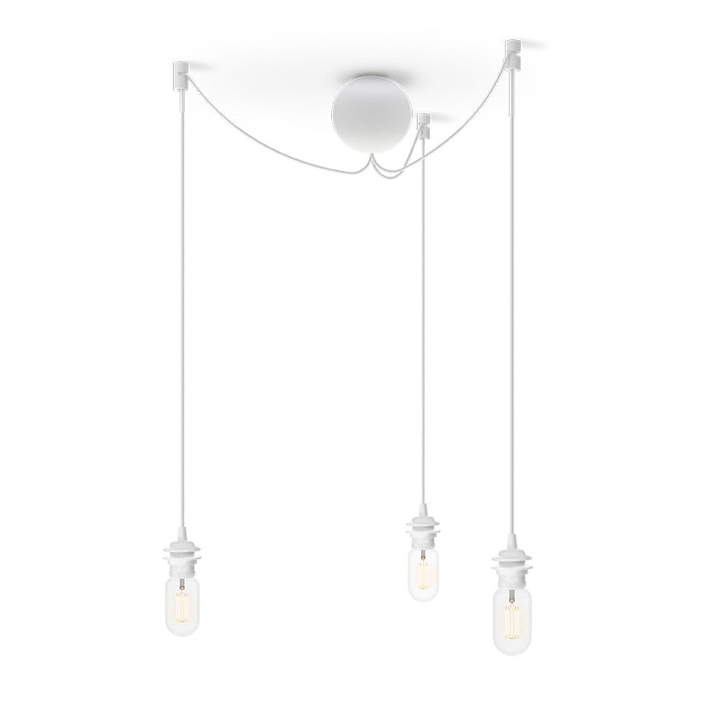 Bílý trojitý závěsný kabel ke svítidlům VITA Copenhagen Cannonball