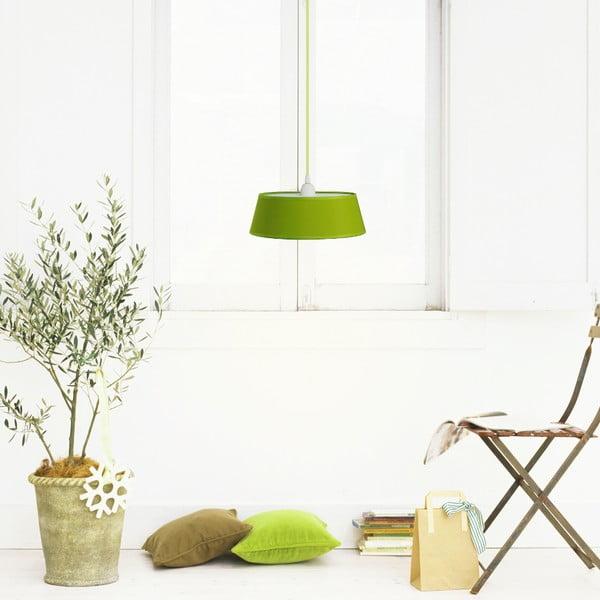 Závěsné světlo TAKO, zelená/zelený kabel