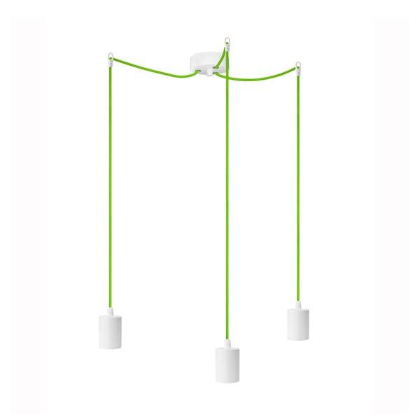 Tři závěsné kabely Cero, zelená/bílá