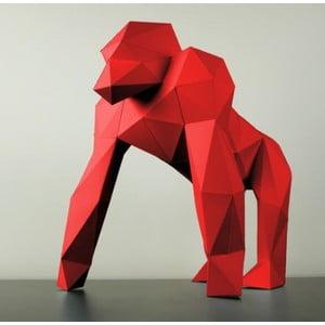 Papírová socha Gorila, červená
