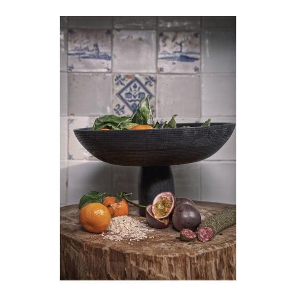 Tmavě hnědá mísa na ovoce z březového dřeva BePureHome Essential