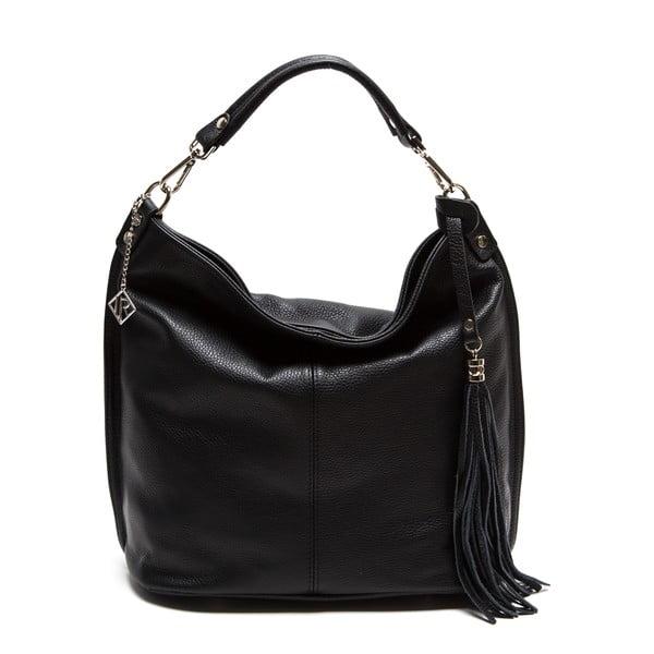 Černá kožená kabelka Isabella Rhea no. 1152