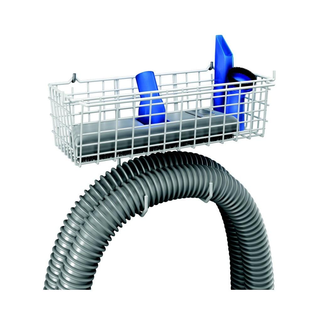 Nástěnný držák na hadice s odkládacím prostorem Metaltex