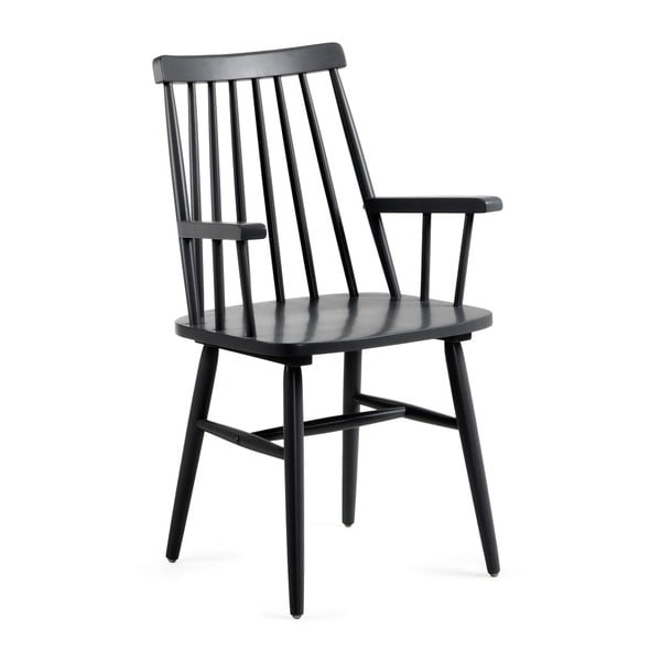 Černá jídelní židle ze dřeva kaučukovníku La Forma Kristie