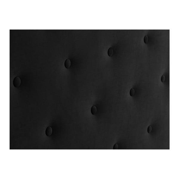 Černé čelo postele Windsor & Co Sofas Astro, 160 x 120 cm
