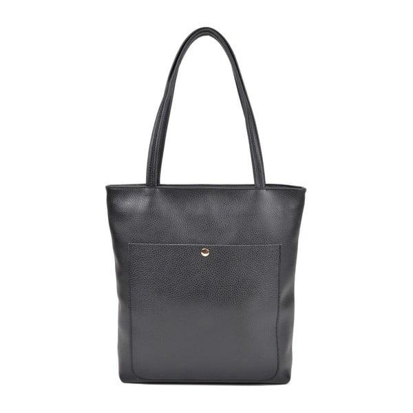 Čierna kožená kabelka Roberta M Huniya
