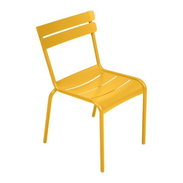 Žlutá zahradní židle Fermob Luxembourg