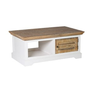 Bílý TV stolek z borovicového dřeva Woodking Jakarta