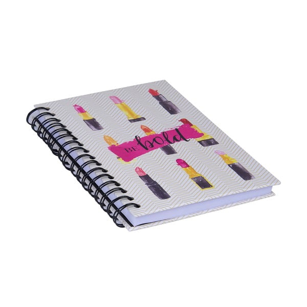 Spirálový zápisník Tri-Coastal Design Be Bold Lipstick