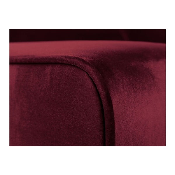 Křeslo v barvě burgundy Cosmopolitan Design Denver