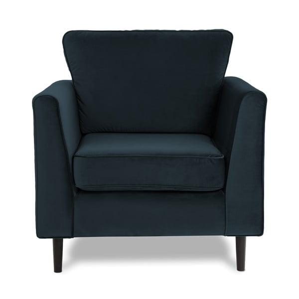 Ciemnoniebieski fotel Vivonita Portobello
