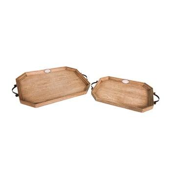 Set 2 tăvi din lemn Antic Line imagine