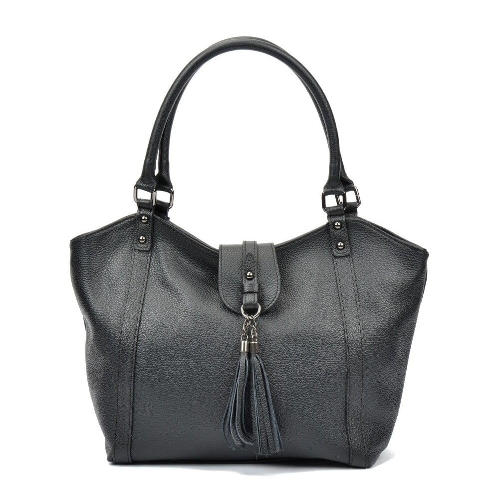 Černá kožená kabelka Carla Ferreri Roberta a67a987ebe