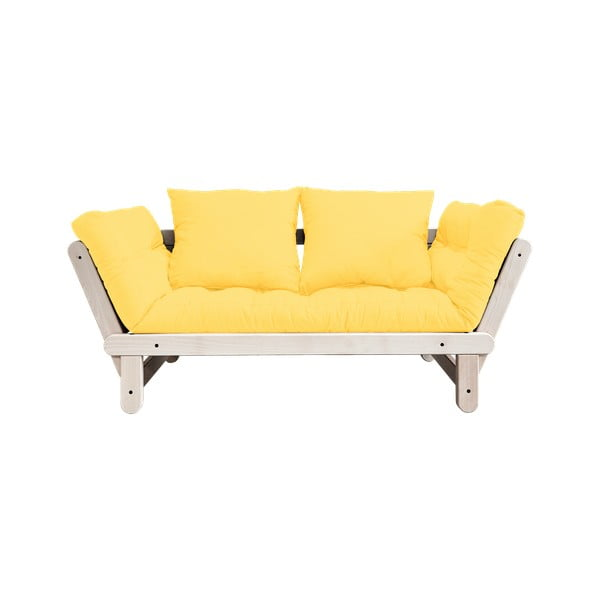 Sofa rozkładana Karup Design Beat Natural/Yellow