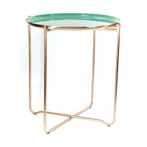 Zelený odkládací stolek 360 Living Cady, ⌀ 50,5 cm