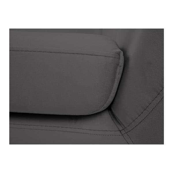 Canapea cu 2 locuri Mazzini Sofas BENITO cu picioare negre, gri