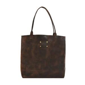 Kožená vintage taška Posh Stacey, tmavě hnědá
