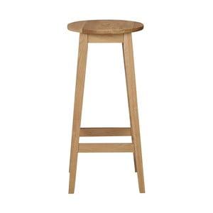 Přírodní dubová stolička Rowico Gorgona, výška 75 cm