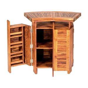 Skládací zahradní barový stolek z teakového dřeva Massive Home Real
