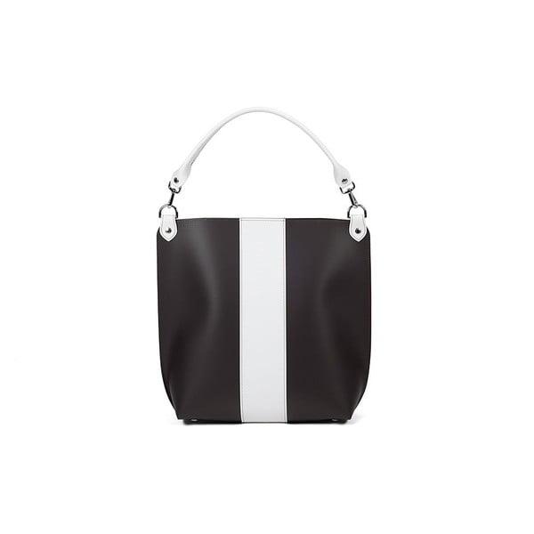 Kožená kabelka Alice Line Black/White