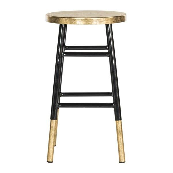 Stolička Counterstool, černo-zlatá