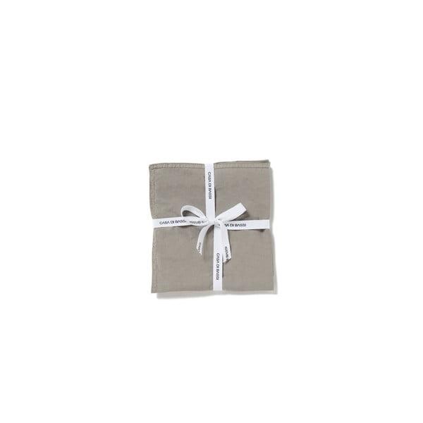 Sada 2 šedých povlaků na polštář z bavlněného perkálu Casa Di Bassi, 40x40cm