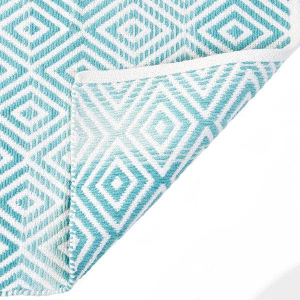Bavlněný koberec InArt Marine, 150x210 cm, krémový/mint
