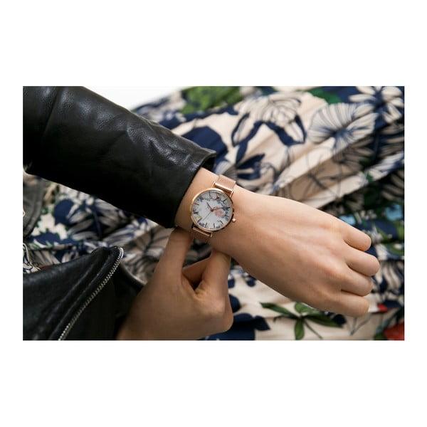 Dámské hodinky s páskem z nerezové oceli v růžovozlaté barvě Emily Westwood Malia