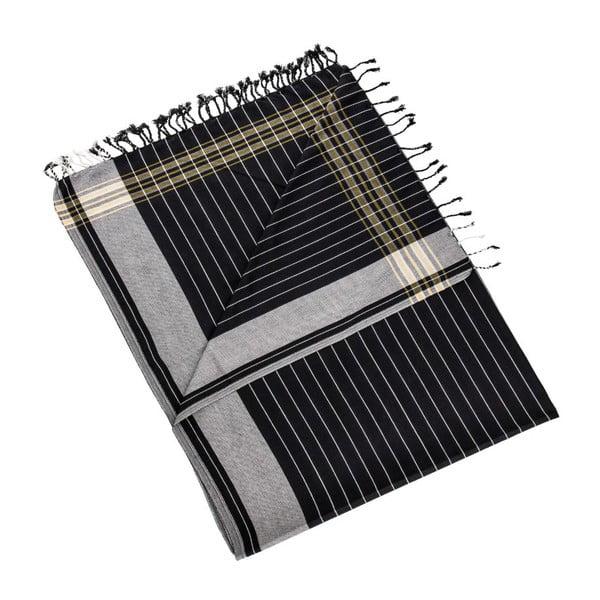 Ručník/pareo Muge Black, 100x178 cm