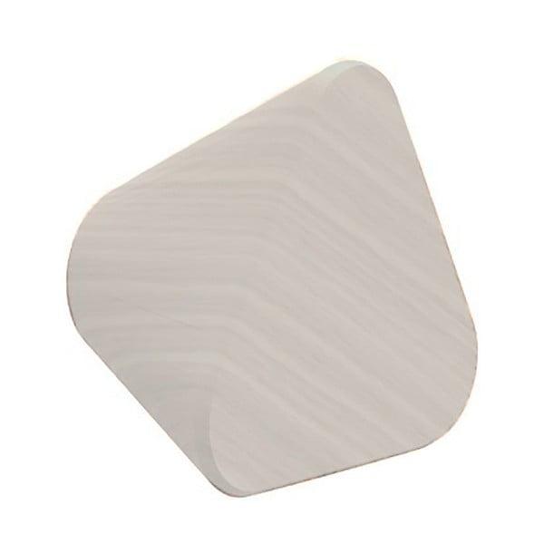 Světle šedý nástěnný háček z dubového dřeva na kabáty HARTÔ Leonie, Ø 8 cm