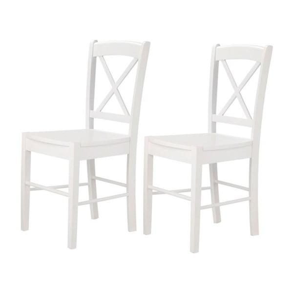 Trento Cross 2 db-os fehér székkészlet - Støraa