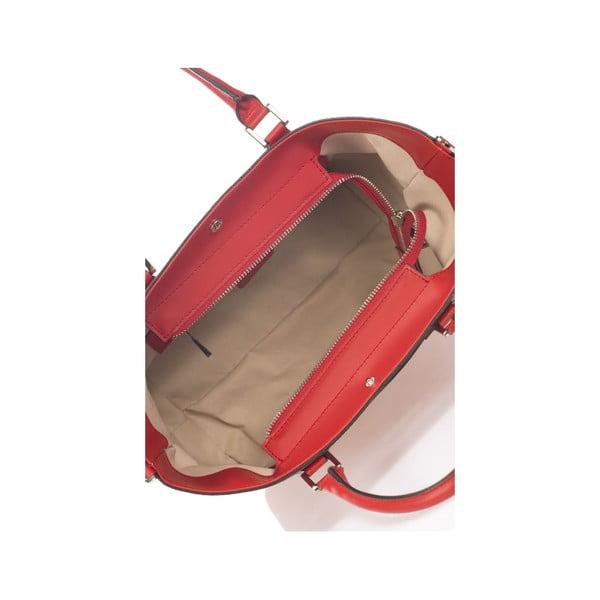 Kožená kabelka Krole Kayleen, červená