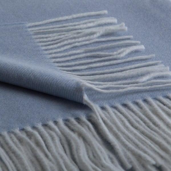Vlněný pléd Anna 130x180 cm, modrý