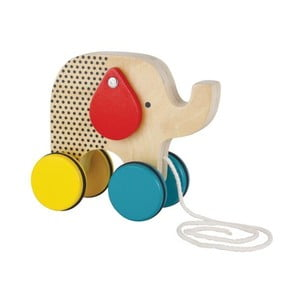 Tahací hračka s pohyblivýma ušima Petit collage Elephant