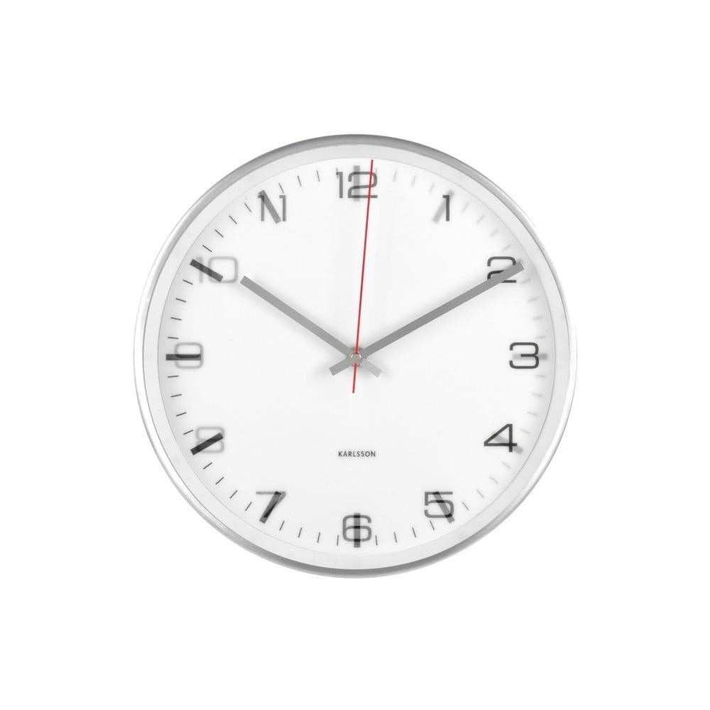 Bílé nástěnné hodiny Karlsson Hologram