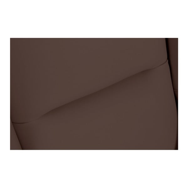 Tmavě hnědé koženkové křeslo ušák Max Winzer Bruno