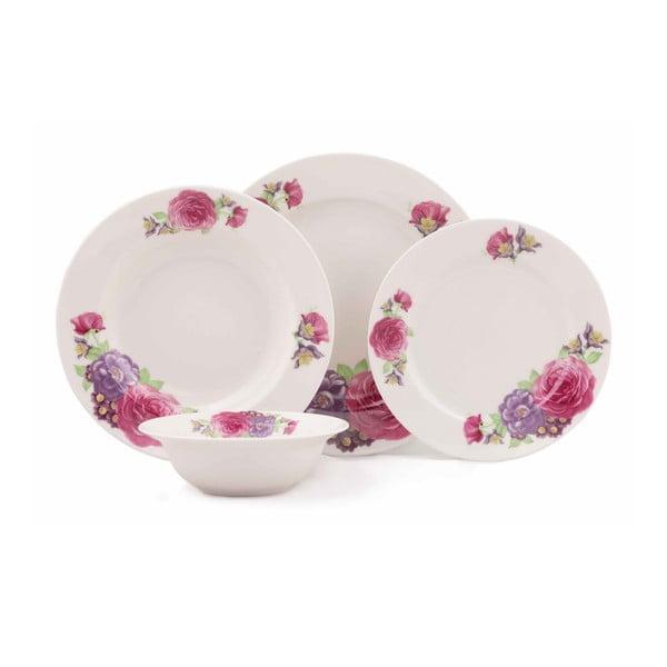 24-częściowy zestaw talerzy porcelanowych Kutahya Rujilo