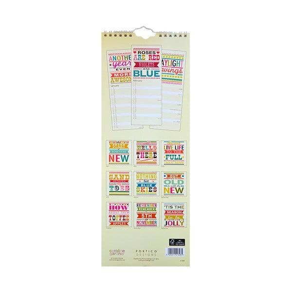 Úzký kalendář Portico Designs Say So
