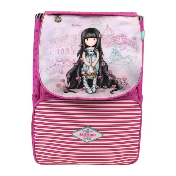 Růžový školní batoh Santoro London Gorjuss Rosebud