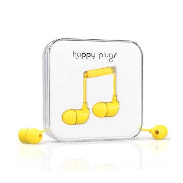 Sluchátka s nástavci Happy Plugs, žlutá