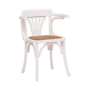 Dřevěná bílá židle Crido Consulting Pellia