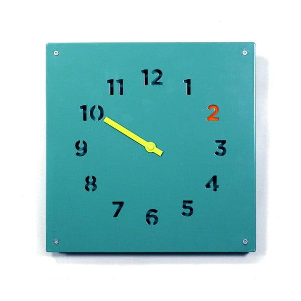 Nástěnné hodiny Wall Clock, modré