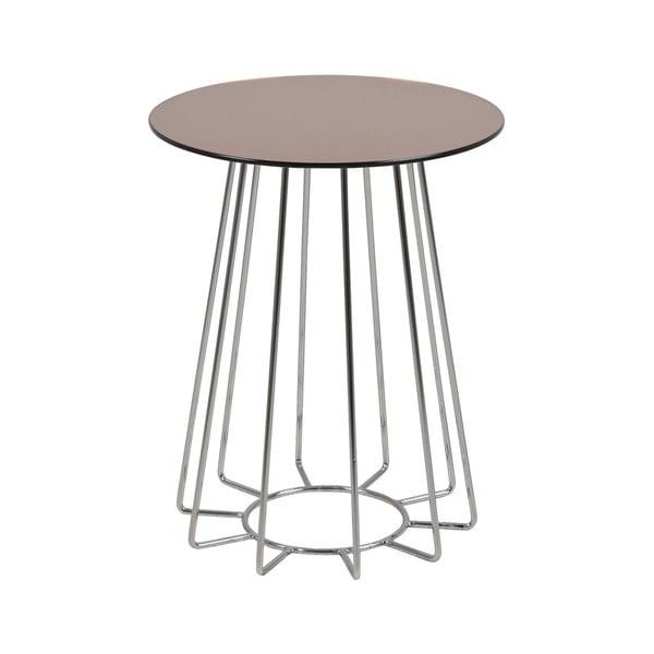 Casia rakodóasztal üveglappal, ⌀40cm - Actona
