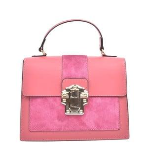 Růžová kožená kabelka Isabella Rhea Antique Rosso