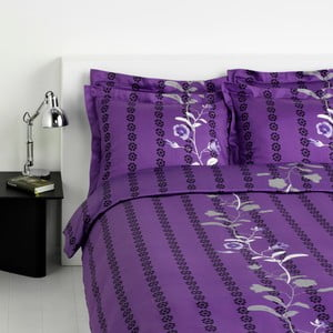 Povlečení na jednolůžko Arcisse Purple 16, 140x220 cm