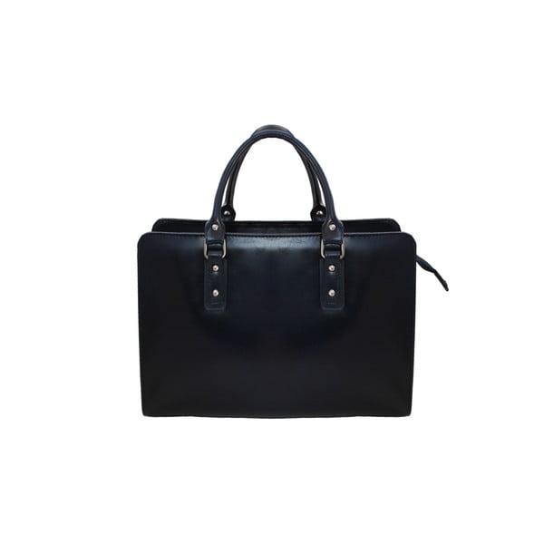 Kožená kabelka Grechetto, modrá